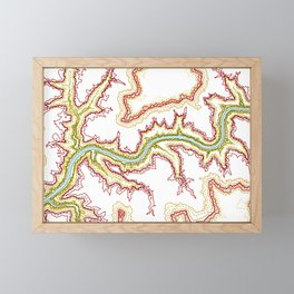Colourful Contours of the Grand Canyon Framed Mini Art Print