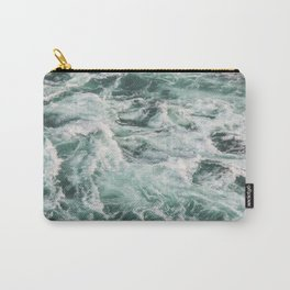 Turquoise Water | Sea Waves | Landscape Photography Carry-All Pouch