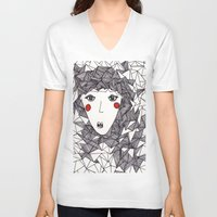 the who V-neck T-shirts featuring who by Eliza L