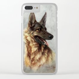 The Story of the Dog 1939 - German Shepherd Clear iPhone Case