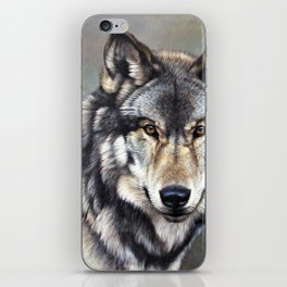 Timber Wolf by Alan M Hunt iPhone Skin