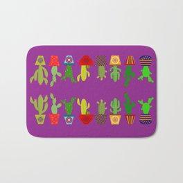 Cactus in Purple Bath Mat