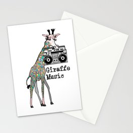 Giraffe Music Stationery Cards