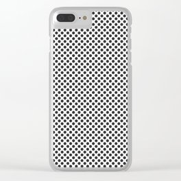 Jet Black Polka Dots Clear iPhone Case