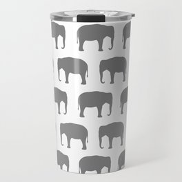 Asian Elephant Silhouette(s) Travel Mug
