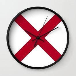 Flag of Alabama-Alabaman,south,birmingham,Montgomery,Jazz,blues,countryside,bible belt,cotton,usa,us Wall Clock