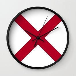 Flag of Alabama-Alabaman,south,birmingham,Montgomery,Jazz,blues,countryside,bible belt,cotton,usa,us Wall Clock