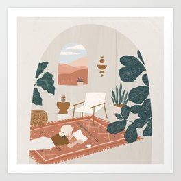 the living room rug Art Print