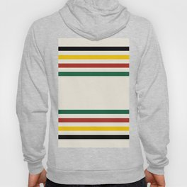 Rustic Lodge Stripes Black Yellow Red Green Hoody