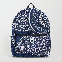 Blue and White Mandala - LaurensColour Backpack
