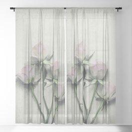 Delicate Roses Sheer Curtain