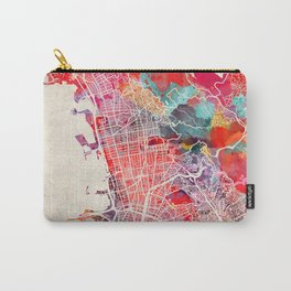 Berkeley map California painting 2 Carry-All Pouch