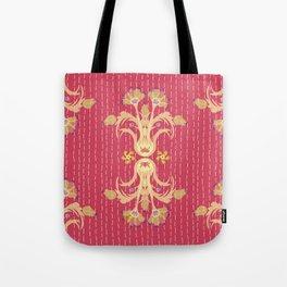 Kantha bouquet 7 Tote Bag