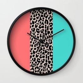 Leopard National Flag XVII Wall Clock