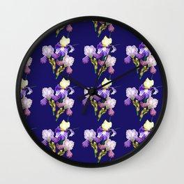 Irises Neck Gator Blue Iris Wall Clock