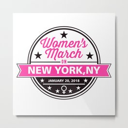 Women's March New York Metal Print