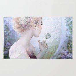 Dream of gentleness - princess in royal garden Rug