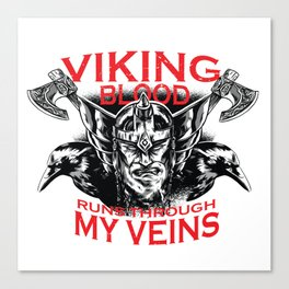Viking blood Canvas Print