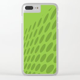 GREEN DOTS ON A GREEN BACKGROUND Abstract Art Clear iPhone Case