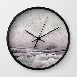 Under the Crashing Wave Wall Clock