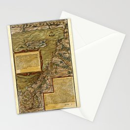 Map Of The Holy Land 1544 Stationery Cards
