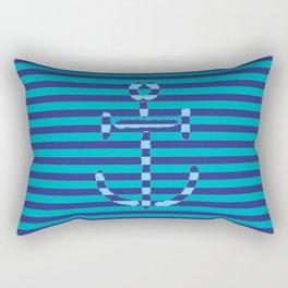 Navy Anchor #2 - Living Hell Rectangular Pillow