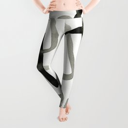 Ink Drawing Abstract Leggings
