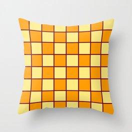 Golden Yellow Chex 1 Throw Pillow