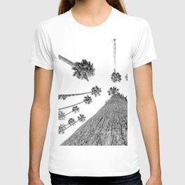 {2 of 2} Hug a Palm Tree // Tropical Summer Black and White Sky Art Print T-shirt