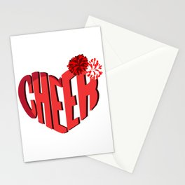 Cheer Heart Love Dancer And Cheerleader Gift Stationery Cards
