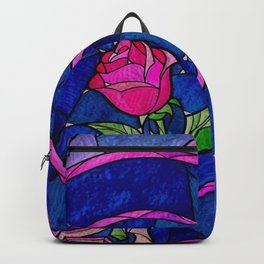 Enchanted Rose Stained Glass Backpack