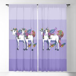 Unicorn Twins Blackout Curtain