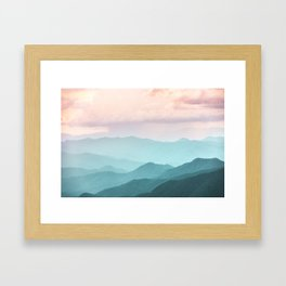 Smoky Mountain National Park Sunset Layers II - Nature Photography Framed Art Print