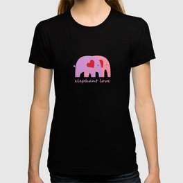 Purple and Pink Elephant Love T-shirt