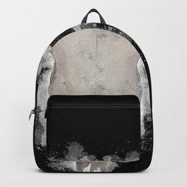 Bull Skull Black Background Backpack