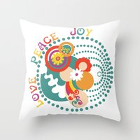70s Throw Pillows featuring 70s Circle  by Louise Machado