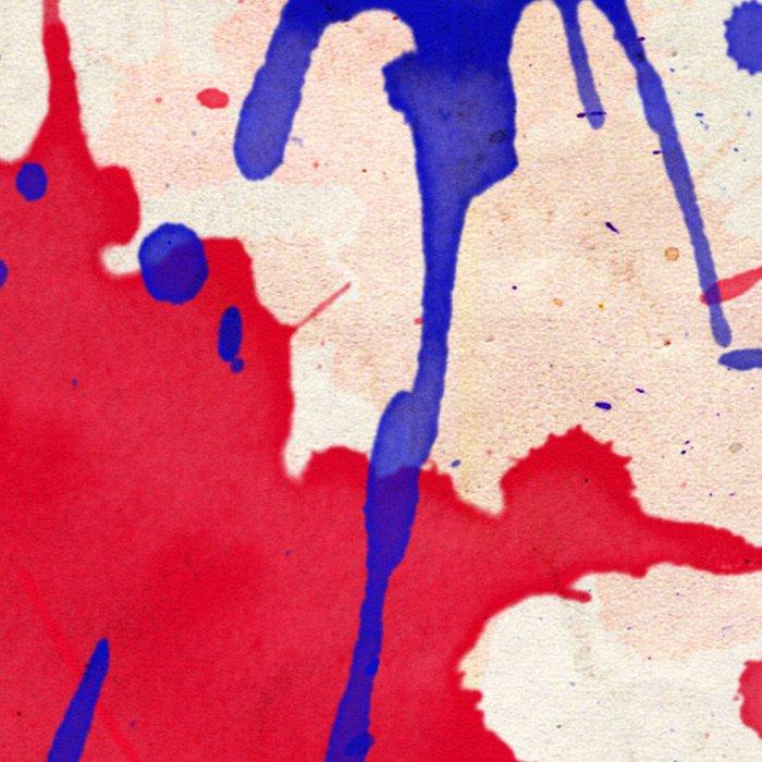 Blue & Red Color Splash Leggings