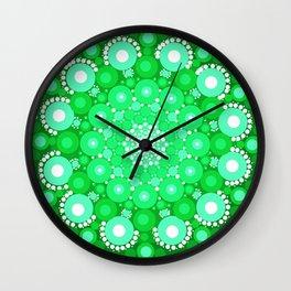 Emerald Mandala Wall Clock