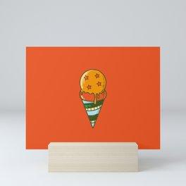 Saiyan Ice Cream Mini Art Print