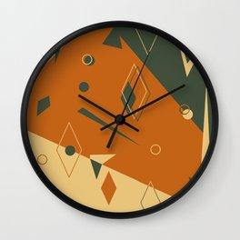 Geometrical style print illustration Wall Clock