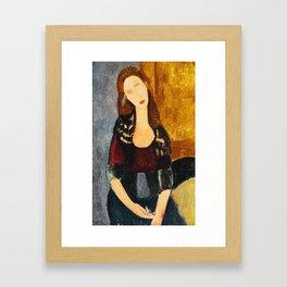 """Amedeo Modigliani """"Jeanne Hebuterne, seated"""" Framed Art Print"""