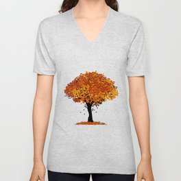 Autumn Tree Unisex V-Neck