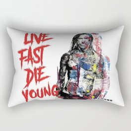 Live Fast Die Young Rectangular Pillow
