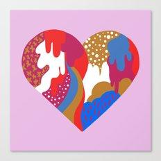 Drippy Heart Canvas Print