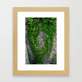 Ivy ivy on the wall... Framed Art Print