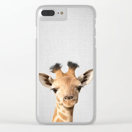 Baby Giraffe - Colorful Clear iPhone Case