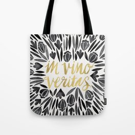 In Wine, There is Truth – Black & Gold Tote Bag