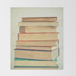 Stack of Books Throw Blanket