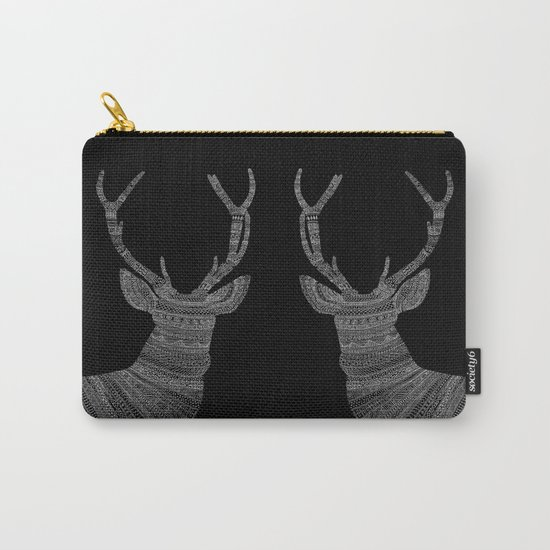 Stag / Deer (On Black) Carry-All Pouch