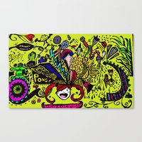 brain Canvas Prints featuring Brain by Art Corner